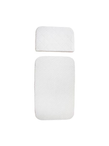 Set de colchones Junior Classic, 2pzas., Funda: algodón, Blanco, An 70 x L 113 cm