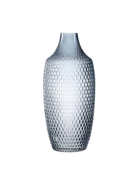 Vaso grande in vetro Poesia, Vetro, Blu, Ø 17 x Alt. 40 cm