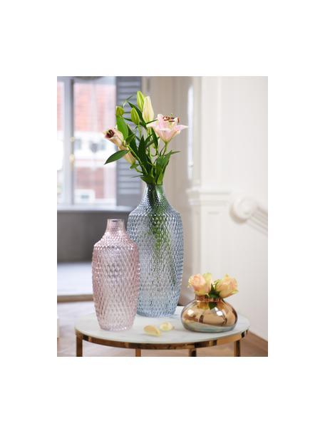 Grote glazen vaas Poesia, Glas, Blauw, Ø 17 x H 40 cm