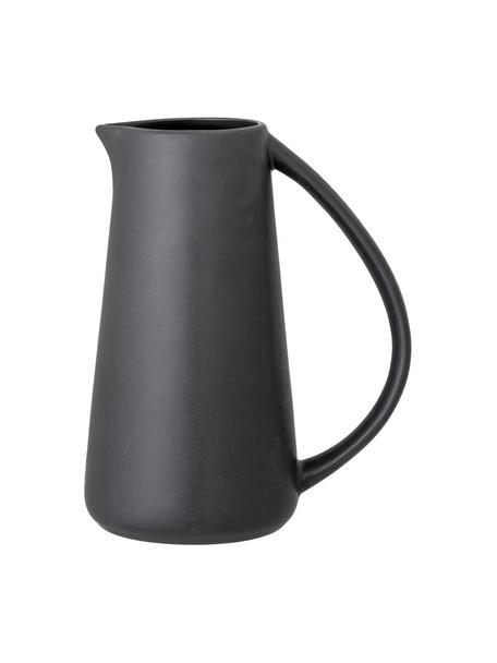 Schwarzer Krug Edit aus Steingut, 1,1 L, Steingut, Schwarz, Ø 12 x H 23 cm. 1,1 L