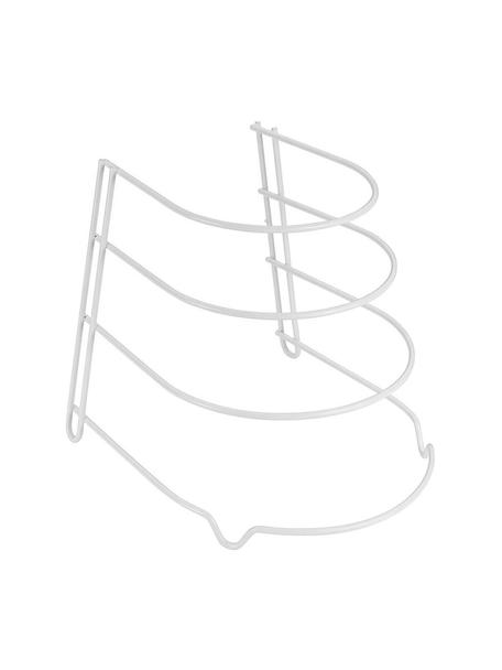 Organizador de sartenes Skillet, Metal recubierto, Blanco, An 23 x Al 27 cm