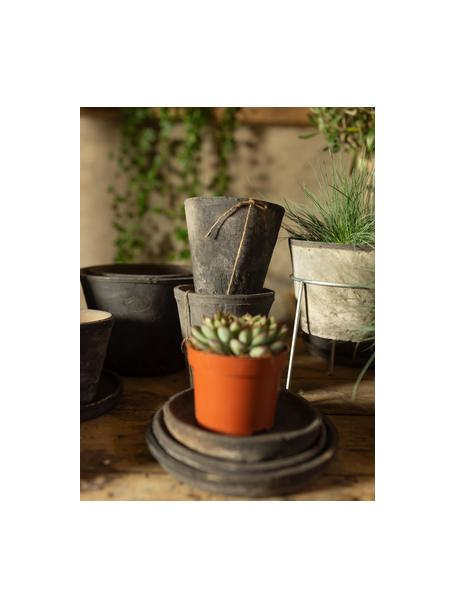 Kleines Pflanztopf-Set Laura 3-tlg., Terrakotta, Grau, Set mit verschiedenen Größen
