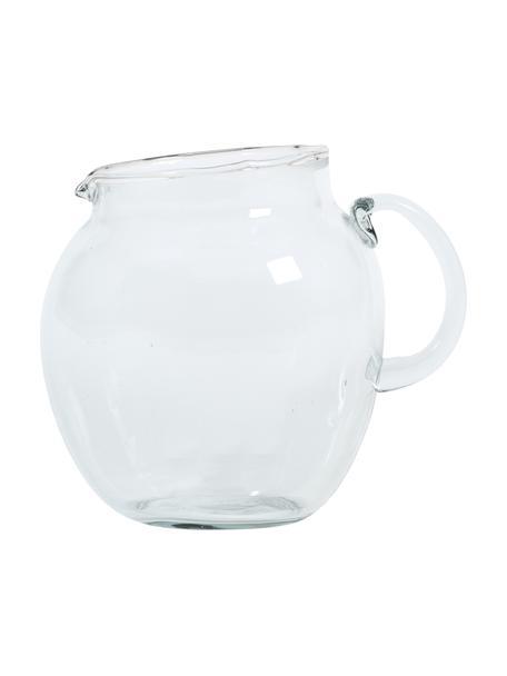 Karaf Unexpected van gerecycled glas, 3 L, Gerecycled glas, Transparant, 17 x 13 cm
