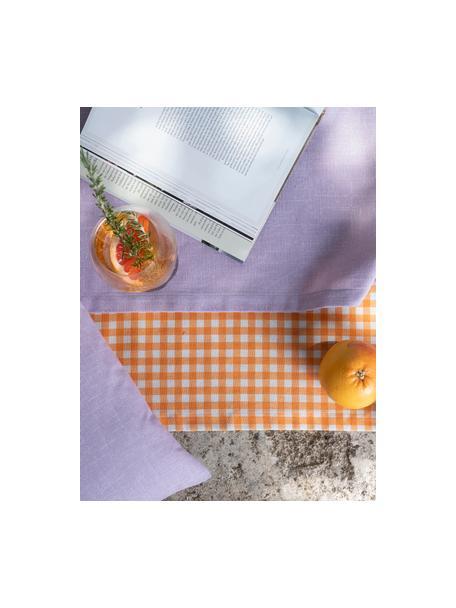 Camino de mesa Riva, 55%algodón, 45%poliéster, Lila, An 40 x L 145 cm