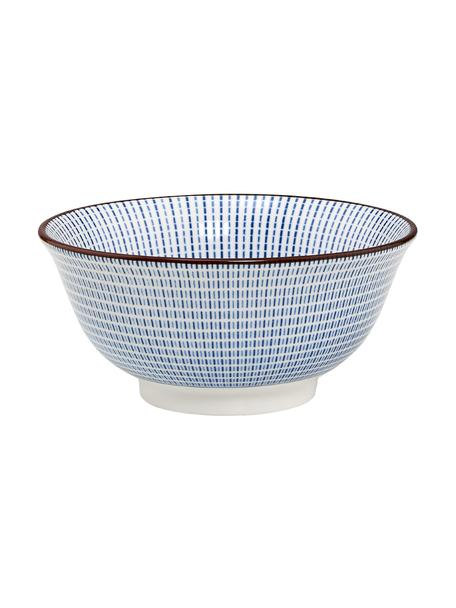 Schälchen Dim Sum mit feinem Muster in Blau/Weiß, 2 Stück, Keramik, Blau, Weiß, Braun, Ø 13 x H 6 cm