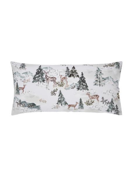 Poszewka na poduszkę z perkalu organicznego Forest od Candice Gray, 2 szt., Wielobarwny, S 40 x D 80 cm