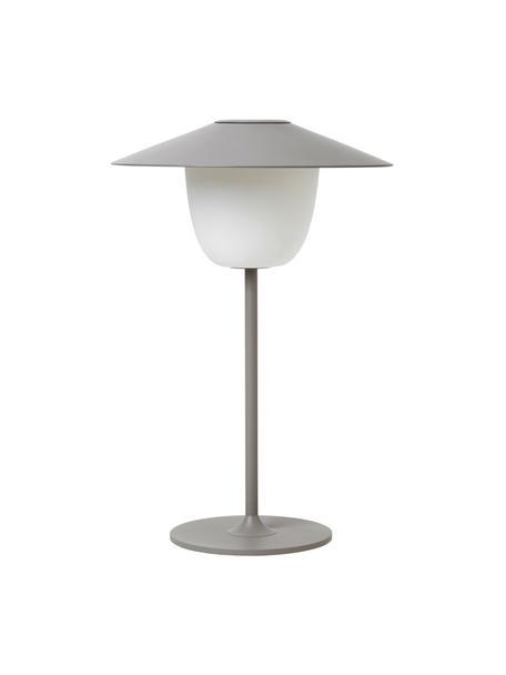 Lampada da esterno portatile e dimmerabile a LED Ani, Paralume: alluminio, Base della lampada: alluminio rivestito, Grigio, Ø 22 x Alt. 33 cm