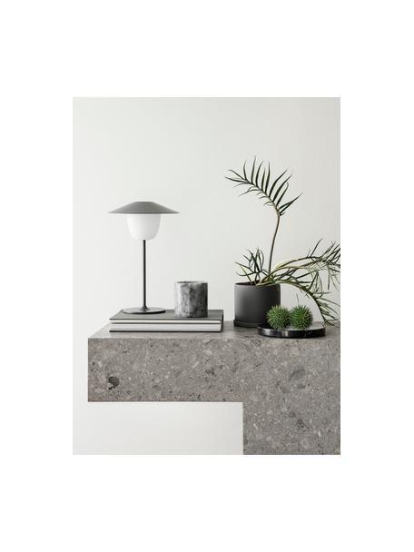 Mobile Dimmbare Aussenleuchte Ani zum Hängen oder Stellen, Lampenschirm: Aluminium, Grau, Ø 22 x H 33 cm