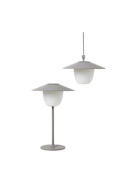 Mobiele outdoor LED lamp Ani, Lampenkap: aluminium, Lampvoet: gecoat aluminium, Grijs, Ø 22 x H 33 cm