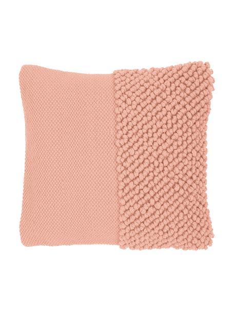 Kussenhoes Andi met gestructureerde oppervlak, 80% acryl, 20% katoen, Abrikooskleurig, 40 x 40 cm
