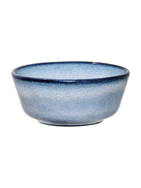 Cuencos artesanales de gres Sandrine, 2 uds., Gres, Tonos azules, Ø 8 x Al 4 cm
