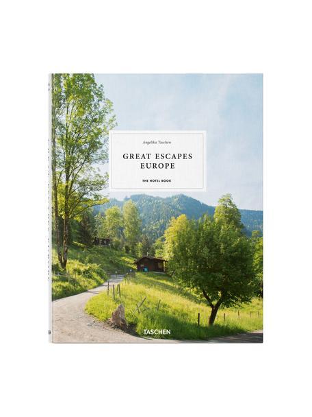 Geïllustreerd boek Great Escapes Europe, Papier, hardcover, Groen, multicolour, 24 x 31 cm
