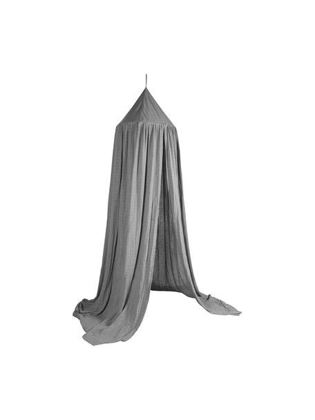 Tendina per letto Stars, Rivestimento: cotone, Asta: metallo, Grigio, Ø 52 x Alt. 240 cm