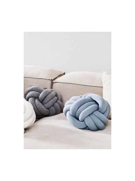 Cojín nudo Twist, Azul claro, Ø 30 cm