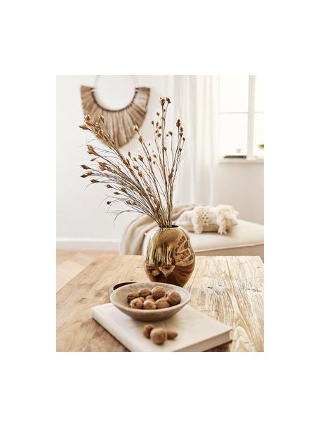 Vaso di design fatto a mano Fiora, Porcellana, Dorato, Ø 16 x Alt. 20 cm