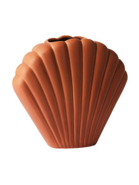 XS Vase Shell aus Steingut, Steingut, Braun, 18 x 20 cm