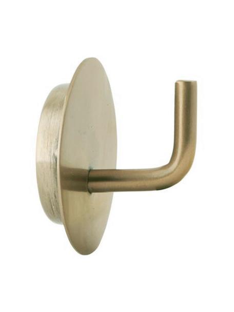 Gancio appendiabiti in metallo Lema 2 pz, Alluminio rivestito, Ottonato, Ø 6 x Prof. 5 cm