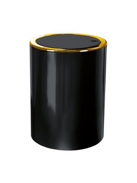 Kosz na śmieci Golden Clap, Tworzywo sztuczne, Czarny, Ø 19 x W 25 cm