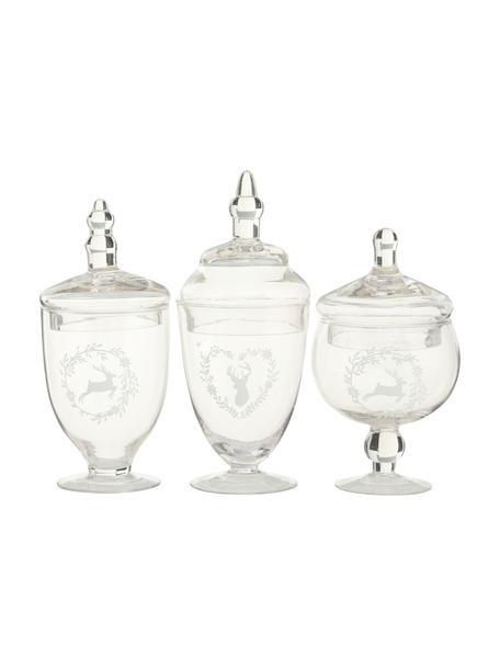 Aufbewahrungsgläser-Set Kia, 3-tlg., Glas, Transparent, Set mit verschiedenen Größen