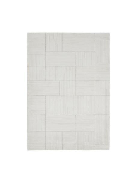 Flauschiger Hochflor-Teppich Lawrence, 55% Polyester, 45% Polypropylen, Naturweiß, Beige, B 160 x L 230 cm (Größe M)