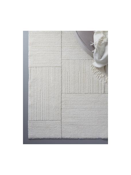Zacht hoogpolig vloerkleed Lawrence, 55% polyester, 45% polypropyleen, Natuurwit, beige, B 160 x L 230 cm (maat M)