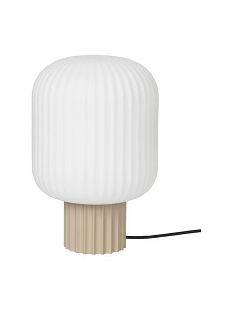 Lampada da tavolo Lolly, Paralume: vetro opale, Base della lampada: metallo rivestito, Bianco, Beige, Ø 20 x Alt. 30 cm