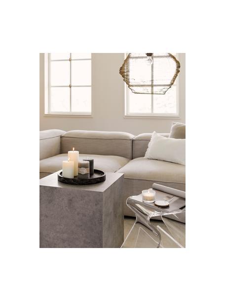 Mesa auxiliar en look cemento Lesley, Tablero de fibras de densidad media(MDF), recubierto en melanina, Gris aspecto cemento mate, An 45 x Al 50 cm