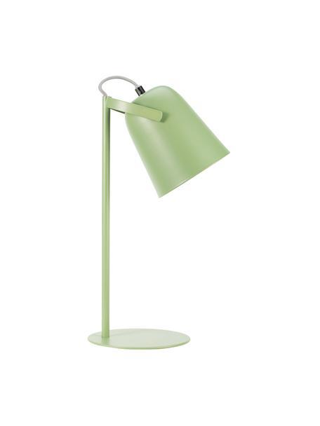 Lampada da scrivania retro True Pistachio, Paralume: metallo rivestito, Base della lampada: metallo rivestito, Verde, Ø 15 x Alt. 40 cm