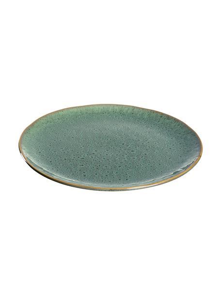 Speiseteller Matera in Grün, 6 Stück, Keramik, Grün, Ø 27 x H 2 cm