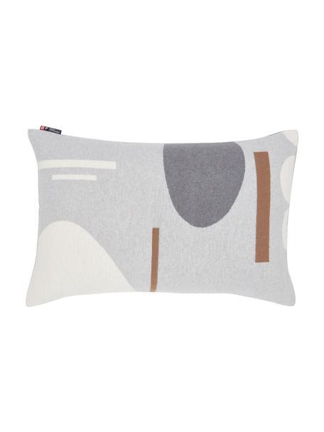 Kissenhülle Nova mit abstraktem Muster, 85% Baumwolle, 8% Viskose, 7% Polyacryl, Grau, Mehrfarbig, 40 x 60 cm