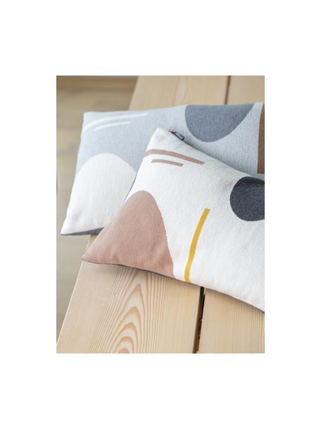 Poszewka na poduszkę Nova, 85% bawełna, 8% wiskoza, 7% poliakryl, Szary, wielobarwny, S 40 x D 60 cm