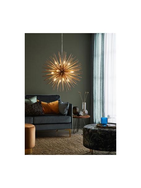 Grosse Design Pendelleuchte Soleil, Lampenschirm: Metall, beschichtet, Baldachin: Metall, beschichtet, Messingfarben, Ø 72 cm