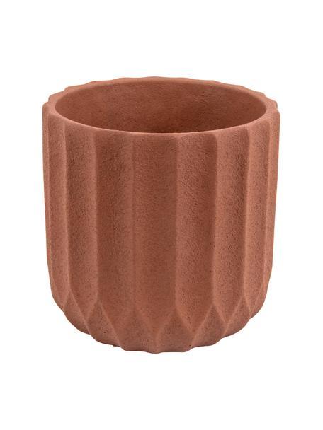 Macetero de cerámica Stripes, Cerámica, Marrón, Ø 15 x Al 15 cm