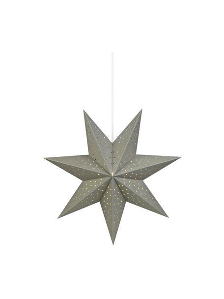 Estrella de Navidad Morris, con enchufe, Cable: plástico, Gris, Ø 45 cm