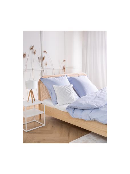Kussenhoes Kara met getuft patroon, 100% katoen, Wit, 50 x 50 cm