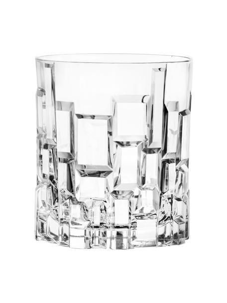 Bicchiere in cristallo con rilievo Etna 6 pz, Cristallo, Trasparente, Ø 8 x Alt. 9 cm