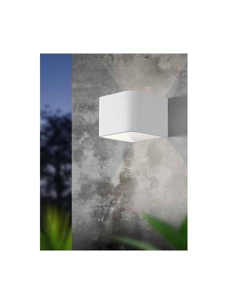 Outdoor LED wandlamp Doninni, Diffuser: kunststof, Wit, 14 x 8 cm