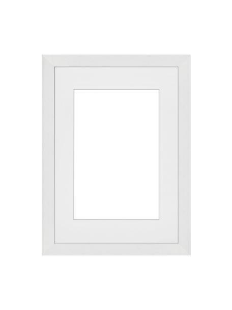Cornice bianca Apollon, Cornice: legno di pino Monterey ve, Retro: Pannello di fibra a media, Bianco, 21 x 30 cm
