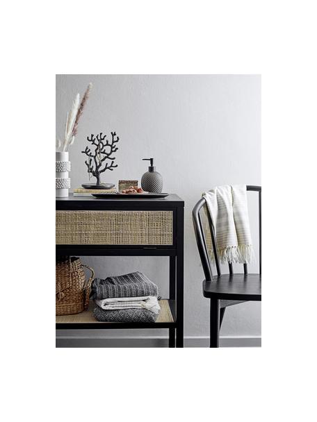 Handgemaakte zeepdispenserset Gustav van keramiek, Keramiek, polypropyleen, Antraciet, Set met verschillende formaten