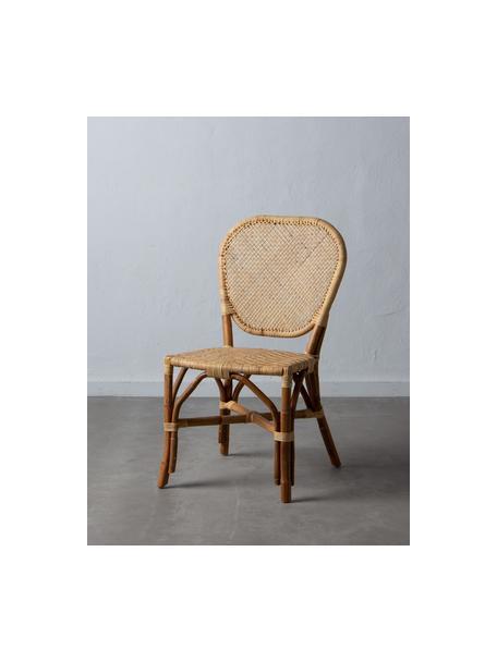 Sedia in rattan Laia, Rattan con intreccio in polietilene, Beige, Larg. 61 x Prof. 47 cm