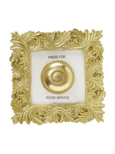 Dekoracja ścienna Room Service, Żywica syntetyczna, Odcienie złotego, biały, S 20 x W 20 cm