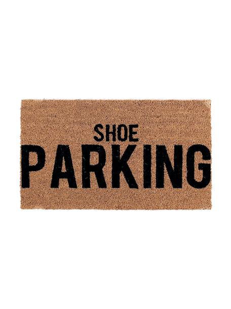 Zerbino in cocco Shoe Parking, Retro: PVC, Marrone, nero, Larg. 40 x Lung. 70 cm