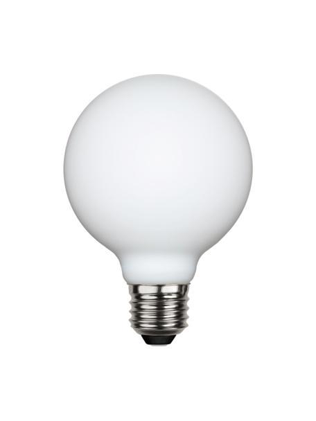 Bombilla regulable E27, 5W, blanco cálido, 1ud., Ampolla: vidrio, Casquillo: aluminio, Blanco, Ø 8 x Al 12 cm