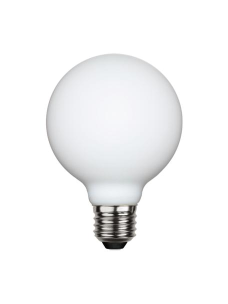 Lampadina E27, 400lm, dimmerabile, bianco caldo, 1 pz, Lampadina: vetro, Bianco, Ø 8 x Alt. 12 cm