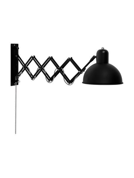 Applique con spina Aberdeen, Paralume: metallo verniciato, Struttura: metallo verniciato, Nero, Larg. 25 x Alt. 27 cm