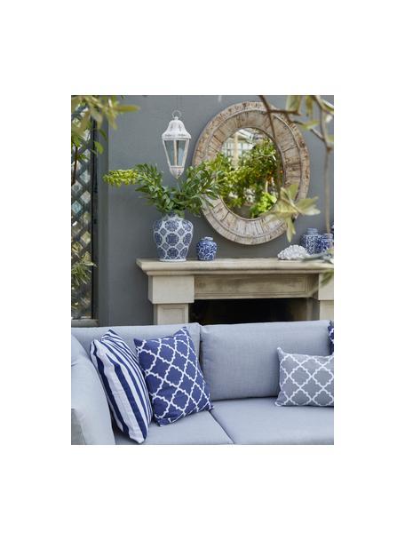 Mały wazon z porcelany z pokrywką Annabelle, Porcelana, Niebieski, biały, Ø 11 x W 13 cm