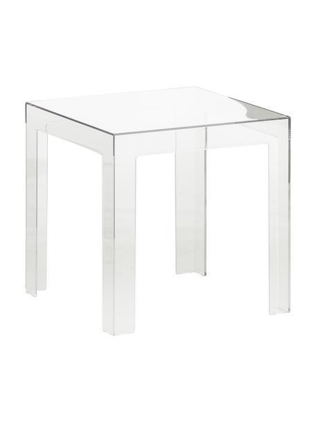Stolik pomocniczy transparentny Jolly, Poliwęglan, Transparentny, S 40 x W 40 cm