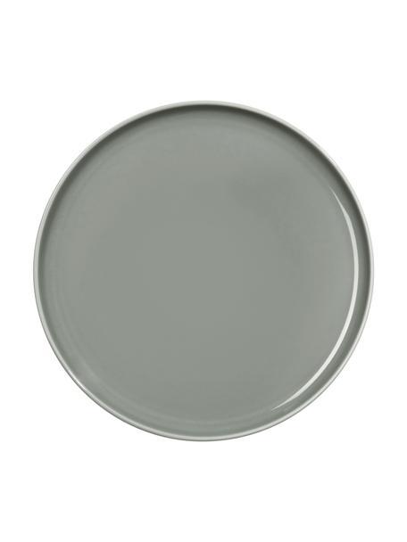Platos postre de porcelana Kolibri, 6uds., Porcelana, Gris, Ø 21 cm