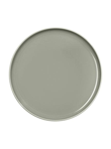Piattino da dessert in porcellana grigia lucida Kolibri 6 pz, Porcellana, Grigio, Ø 21 cm