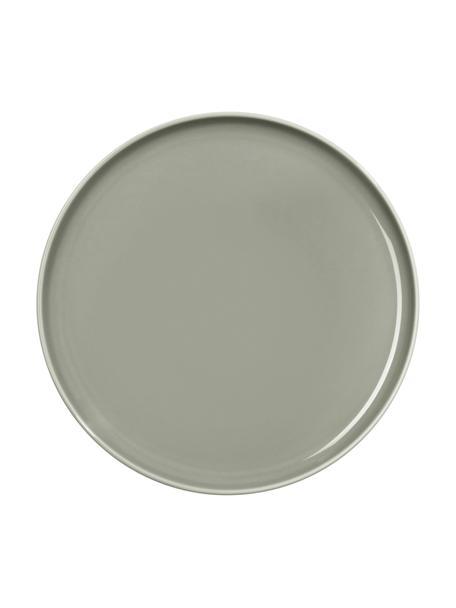 Porseleinen ontbijtborden Kolibri in glanzend grijs, 6 stuks, Porselein, Grijs, Ø 21 cm
